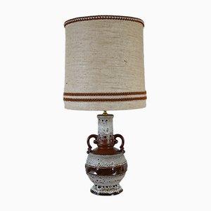 Lampe de Bureau Mid-Century en Céramique Marron, 1960s