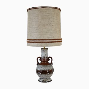 Mid-Century Brown Ceramic Table Lamp, 1960s
