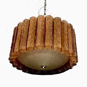 Lampada da soffitto in vetro di Murano, anni '40