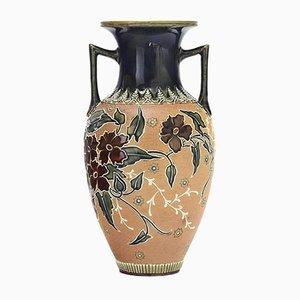 Antike Vase mit zwei Henkeln von Doulton Lambeth Slater