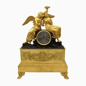 19th-Century Charles X French Gilt Bronze Pendulum Clock