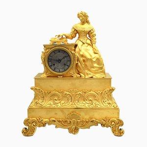 Orologio a pendolo Carlo X in bronzo dorato, Francia, XIX secolo