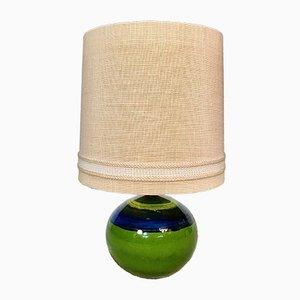 Lámpara de mesa alemana de cerámica esmaltada de Hutschenreuther, años 60