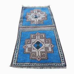 Small Vintage Turkish Handmade Bathroom Carpet, 1970s