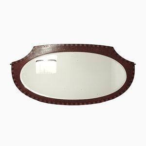 Art Deco Wooden Mirror from Miroirs P. M. Modèles Déposés, 1920s