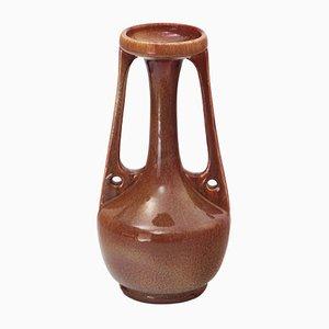Große antike Vase mit zwei Griffen im Secessionsstil von Bretby Pottery
