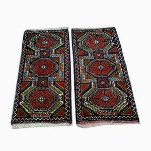 Kleine Vintage Fußmatten aus Wolle, 1970er, 2er Set