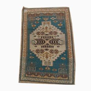 Türkischer Vintage Yastik Teppich mit niedrigem Flor, 1970er
