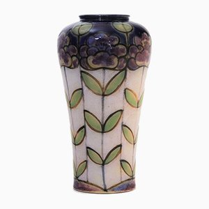 Art Deco Stoneware Vase by Bessie Newbury for Royal Doulton, 1920s