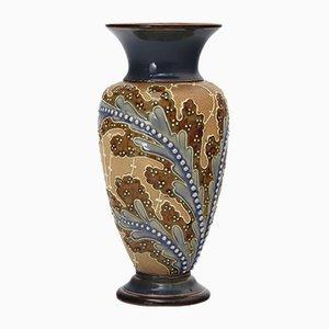 Antike Baluster Vase von Florence Roberts & Rosina Brown für Doulton Lambeth