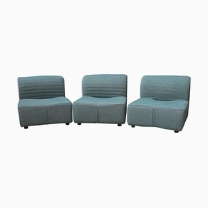 Lounge Chairs by Tito Agnoli for Mobilier International, Set of 3