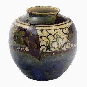 Vase Ovoïde Art Déco en Grès par Lily Partington pour Doulton Lambeth, 1920s