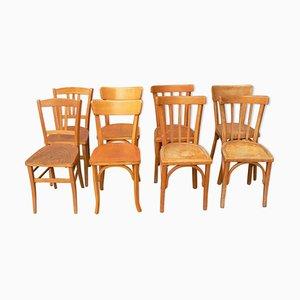 Vintage Mismatched Bistro Chairs, Set of 8