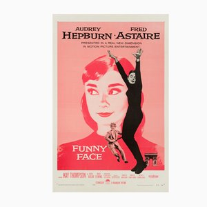 US Funny Face One Sheet Film Poster, 1957
