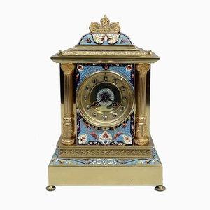 Orologio da camino in ottone di Samuel Marti, Francia, fine XIX secolo