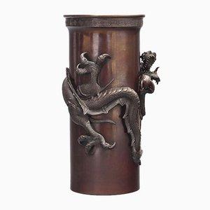 Vase Dragon Période Meiji en Bronze, Japon