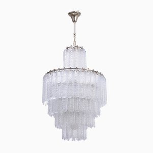 Vintage Italian Glass Chandelier from Venini, 1960s