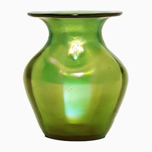 Iridescent Glass Crete Glatt Vase from Johann Loetz, 1900s