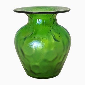 Schillernde Crete Rusticana Vase aus Glas von Johann Loetz, 1900er