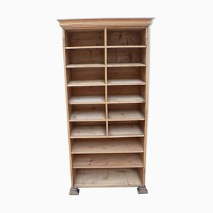 Antique Pickled Shelving Cabinet