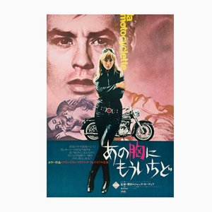 Japanese The Girl on a Motorcycle Film Poster, 1968