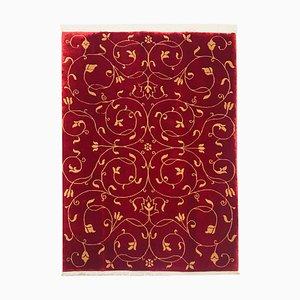 Nepalese Garnet & Beige Carpet, 1980s