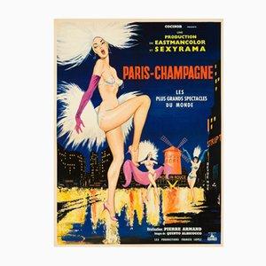Affiche de Film Paris-Champagne par Sinclare, 1964