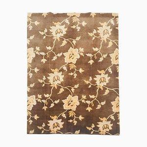 Nepalesischer Teppich mit floralem Muster, 1980er