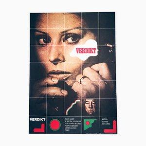The Verdict Movie Poster by Karel Vaca, 1976