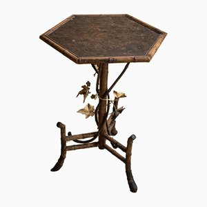 Antique Bamboo Pedestal Table