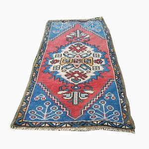 Small Vintage Turkish Oushak Hand-Knotted Rug, 1970s