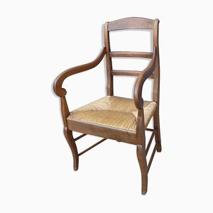 Antique Louis Phillippe Style Walnut Armchair