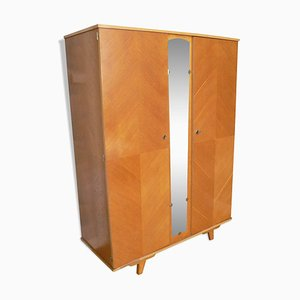 Mid-Century French Oak Veneer Wardrob, 1950s