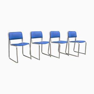 Vintage Stühle mit Bezug aus Kunstleder, 1970er, 4er Set