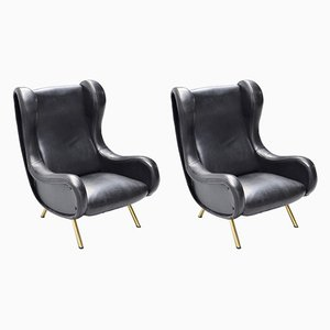Senior Lounge Chairs by Marco Zanuso for Arflex, 1950s, Set of 2