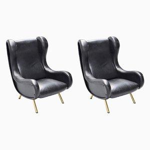 Senior Sessel von Marco Zanuso für Arflex, 1950er, 2er Set