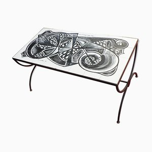 Ceramic Coffee Table from Bruandet, 1950s