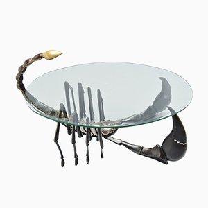 Table Basse Scorpion en Bronze par Jacques Duval-Brasseur, 1970s