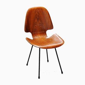 Beistellstuhl aus Palisander von Carlo Ratti für Legni Curva, 1950er