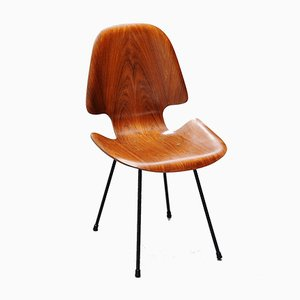 Rosewood Side Chair by Carlo Ratti for Legni Curva, 1950s