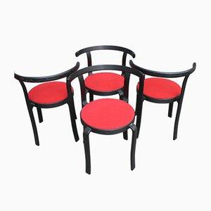 Stapelbare Vintage Stühle, 4er Set