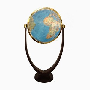 Large Vintage Illuminated Duo Floor Globe from Columbus