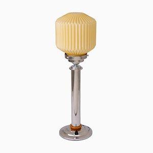 Lámpara de mesa Art Déco vintage cromada, años 30