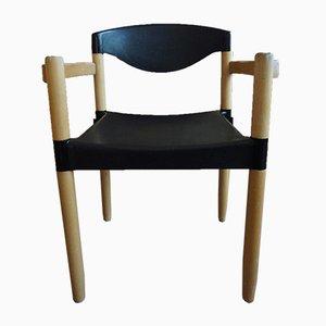 Skandinavischer moderner deutscher Armlehnstuhl aus Buche & Kunststoff von Hartmut Lohmeyer für Casala, 1981