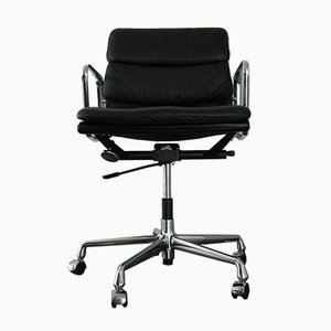 Chrome & Leather EA 217 Desk Chair by Charles & Ray Eames for Vitra, 1990s