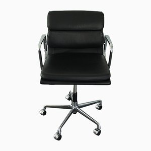 Chrome & Leather EA 217 Desk Chair by Charles & Ray Eames for Vitra, 2000s