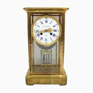 Horloge Antique en Bronze Doré, France, 1900s