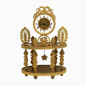 19th-Century Charles X Gilt Bronze Pendulum Clock