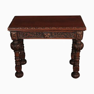 Antiker Kartentisch aus Eiche