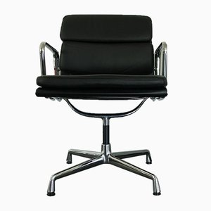 Chrome & Leather EA 208 Armchair by Charles & Ray Eames for Vitra, 2000s